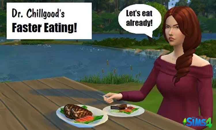 Sims 4 Faster Eating and Drinking