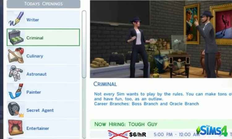 Sims 4 Lower Wages
