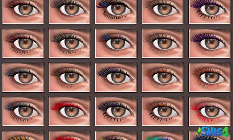 TS4 05 Eyelashes by Glaza