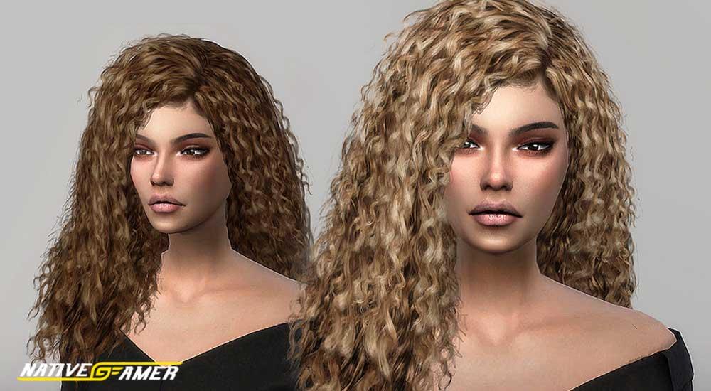 sims 4 girls curly hair
