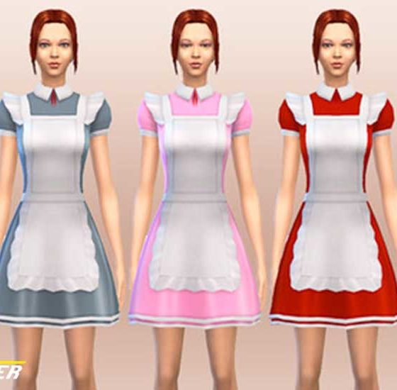 Sims 4 Maid Outfit