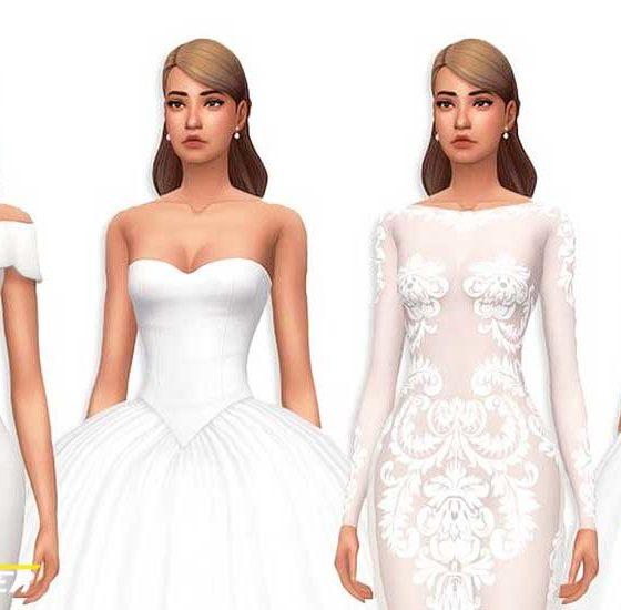 sims 4 wedding dresses
