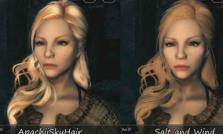 Salt and Wind - Rough Hair for Apachii Sky Hair SE by Shiva182