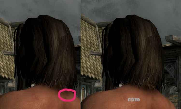 Straight Hair Retexture